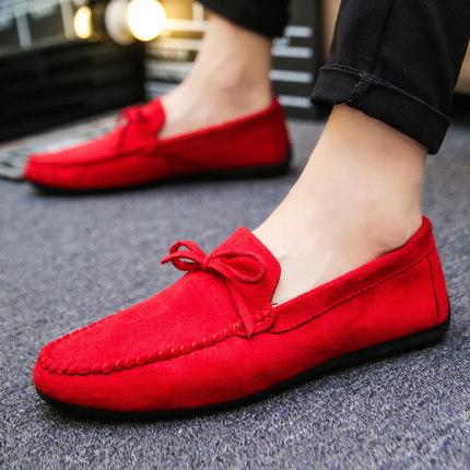 Men\'s Peas Shoes Velvet Warm Winter Casual Shoes Social Shoes