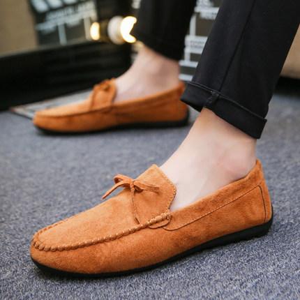 Men's Peas Shoes Velvet Warm Winter Casual Shoes Social Shoes