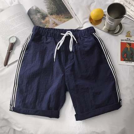 Men\'s Summer Beach Pants Loose Casual Shorts Plus Size Pants