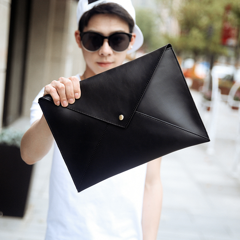Men\'s Clutch Bag Fashion Handbag Envelope Retro Shoulder Diagonal Bag