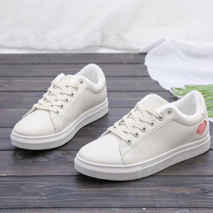 Women's Small Shoes Velvet Warm Canvas Shoes Students Sneakers