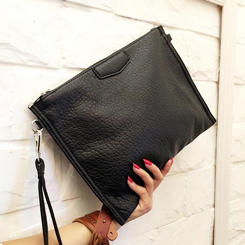 Men\'s Messenger Bag Fashion Trend Clutch Bag Leather Envelope Shoulder Bag