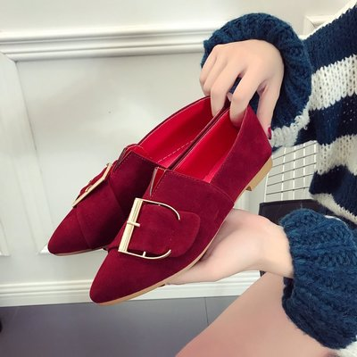 Women Flat Shoes Pointed Scoop Shoes Shallow Mouth Flat Boat Plus Size Shoes