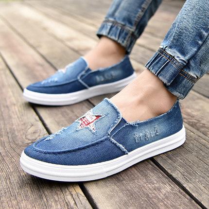 Men\'s Denim Shoes Casual Shoes Pedal Board Shoes Canvas Shoes