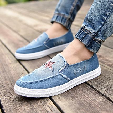 Men's Denim Shoes Casual Shoes Pedal Board Shoes Canvas Shoes
