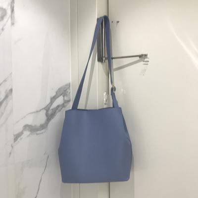 Women Simple Diagonal Bag Solid Color Large Capacity Magnetic Buckle Bucket  Bag 308913a4c7ca5
