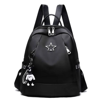 Women Large Capacity Shoulder Bag College Nylon Handbag Oxford Cloth