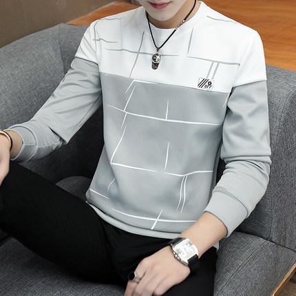 Men\'s Long Sleeved T-Shirt Velvet Thick Sweater Round Neck Plus Size Shirt