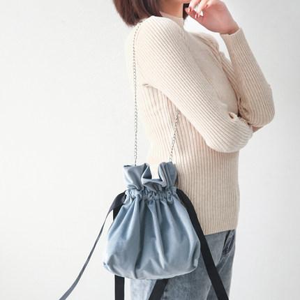Women Velvet Small Bag Shoulder Chain Bag Messenger Bag Crossbody Bag e45a3df470b7c