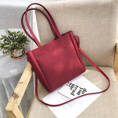 Women Fashion Matte Shoulder Messenger Bag Large Capacity Bag Handbag