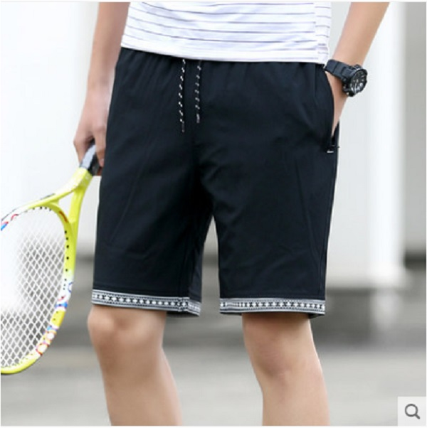 Men\'s Summer Hole Denim Shorts Slim Pants Thin Jeans Pants