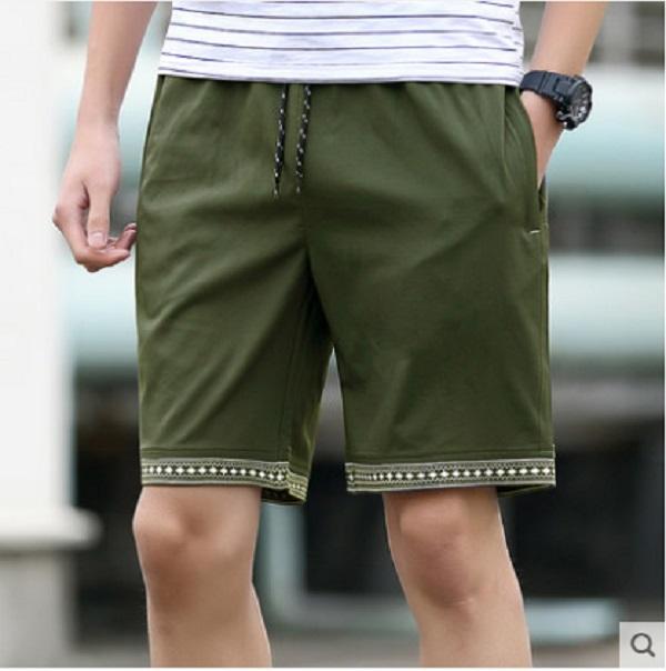 Men's Summer Hole Denim Shorts Slim Pants Thin Jeans Pants