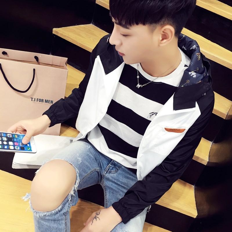 Men's Trendy Korean Fashion Autumn Spring Slim Fit Jacket