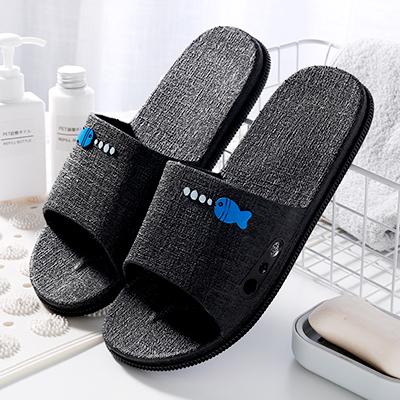 Men\'s Summer Home Bathroom Non-Slip Plastic Slippers Couples Slippers
