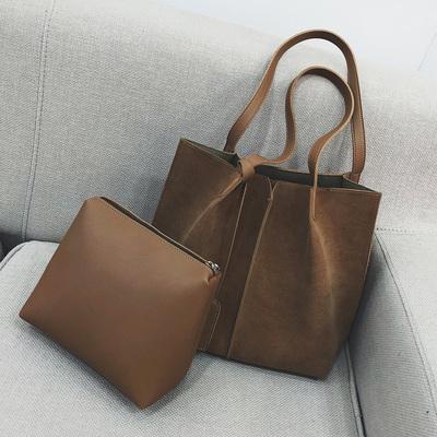 Women High Fashion Retro Matte Shoulder Bag