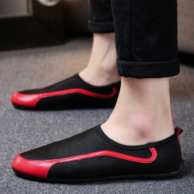 Men's Korean Youth Trend Casual Canvas Peas Shoes