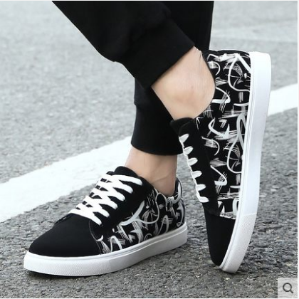 Men\'s Korean Wild Style Simple Match Look Canvas Casual Shoes