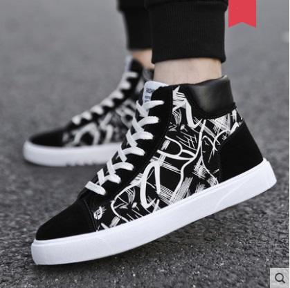 Men\'s Korean Wild Style High Top Canvas Casual Shoes