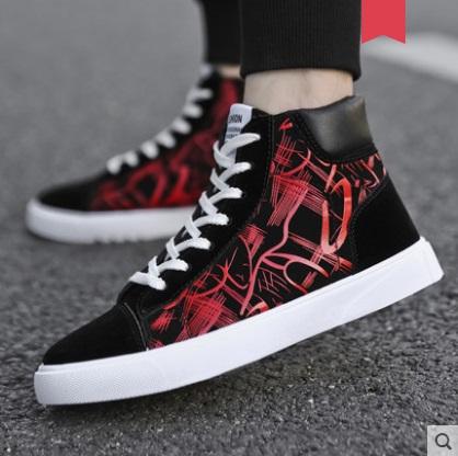 Men's Korean Wild Style High Top Canvas Casual Shoes
