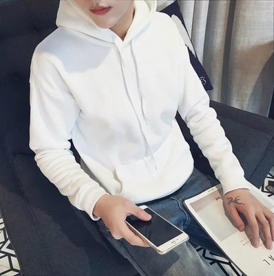 Men's Korean Hedging Style  Loose Hooded Long Sleeved Sweater