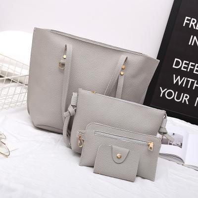 Women Korean Fashion Four Piece Soft  Female Leisure Bag
