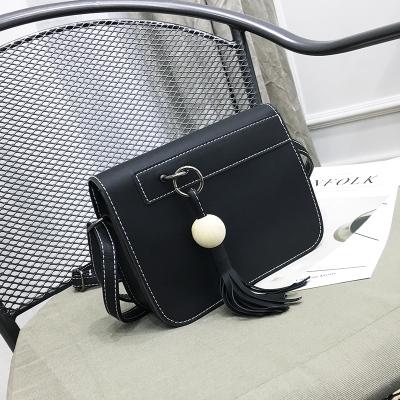 Women Korean Fashion Diagonal Small Square Tassel Bag