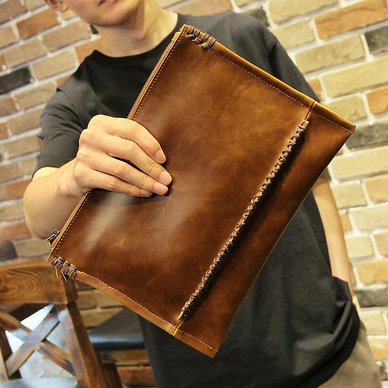 Men\'s Korean Trend Casual Envelope Medium Clutch Bag