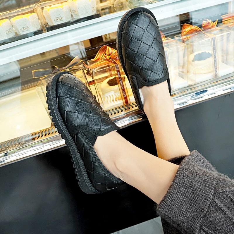 Women Korean Wild Style Velvet Round Head Low Cut  Cotton Shoes