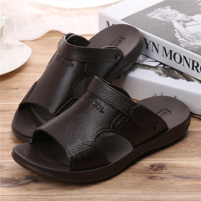 Men\'s Korean  Fashion Casual Open Toe Plastic Slippers