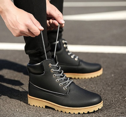 Men\'s Korean  Fashion New Casual High Cut Tooling Boots