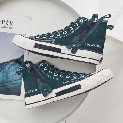 Men's Korean  Youth Trend High Cut Old School Canva Shoes