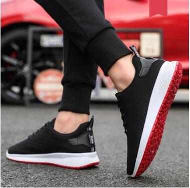 Men\'s Korean  Fashion Round Head Mesh Running Shoes