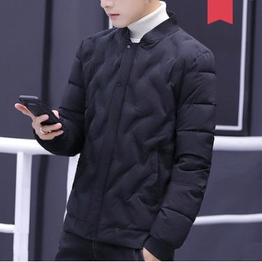 Men\'s Korean Trend Youth Pop Fashion Cotton Pad Jacket Long Sleeve