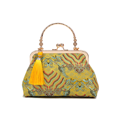 Women Korean Fashion Retro Chinese Style Small  Embroidered Shell Bag