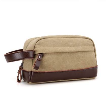 Men\'s Korean Trend Retro Small  Canvas Hand Bag