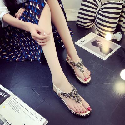 Women Korean Fashion Bohemian Rhinestone Roman Sandals