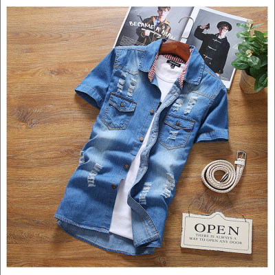 Denim Jacket Couple Men Plus Size