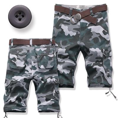 Men's Korean Youth Fashion Multi Pocket Camouflage Casual Tooling Shorts