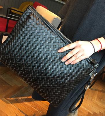 Women Korean Fashion Retro Weeving Envelope Handbag