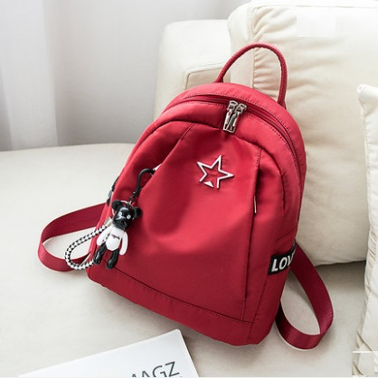 Women Korean Fashion Vertical Square Inter layer Canvas Back Pack