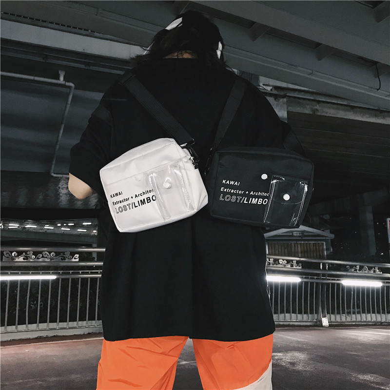 Men's Korean Trend Hip Hop Style Unisex Mini Cross Bag
