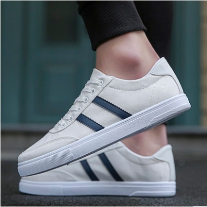 Men's Korean Youth Trend Fashion Thick Bottom Casual Canvas Shoes