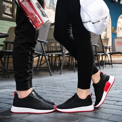 Men\'s Korean Youth Trend Fashion Breathable Lace up Couples Walking Shoes