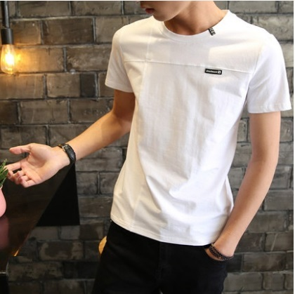 71110e4d11bc Men s Korean Trend Youth Pop Style Regular Short Sleeved Cotton T Shirt