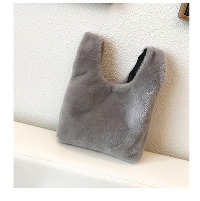 Women Korean Fashion Winter Wild Style  Small Hairy Handbag