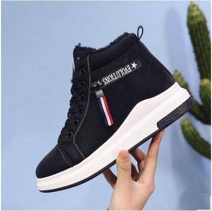 Women  Korean Trend New Sports Casula High Top Cotton Shoes