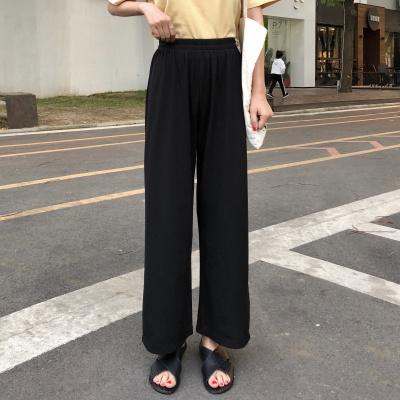 Women Korean Fashion Loose High Waist Wide Leg Straight Pants