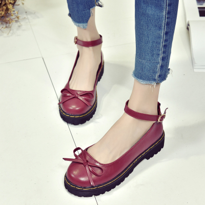 [READY STOCK] Women Japanese Retro Round-Headed Lolita Shoes