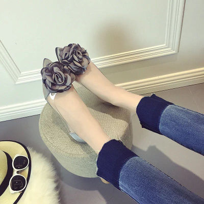 [READY STOCK] Women Flower Flora Rose Flats Ballerina Shoes