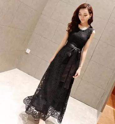 Women Korean Fashion Fairy Lace Long Dress